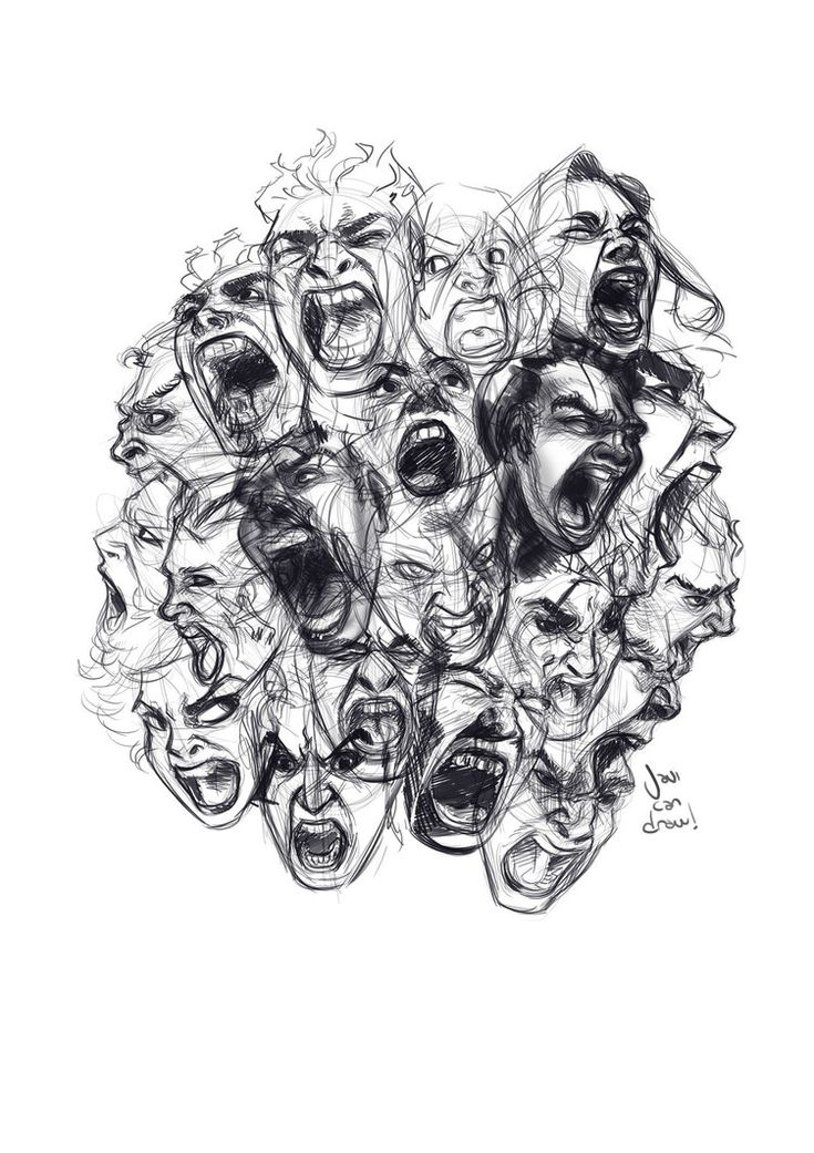 Sketchdump + HOW TO DRAW SCREAMING FACES VIDEO! by javicandraw on DeviantArt