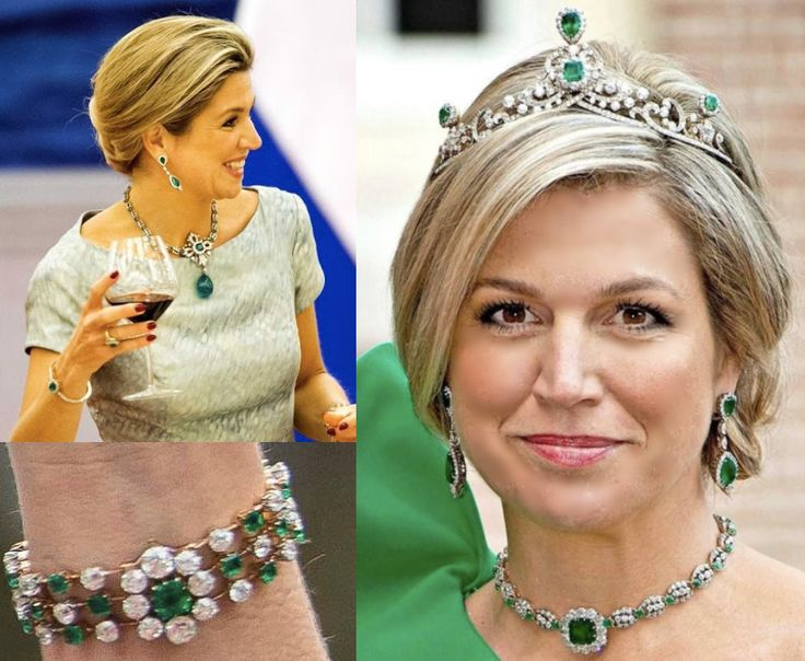 """Dutch Royal Jewels on Instagram: """"The emerald diadem was a gift from Queen Emma to her daughter, Queen Wilhelmina in 1899. The emeralds in this """"parure"""" are said to have…"""""""