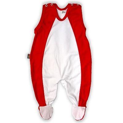 Grenouillère bébé rouge-blanche http://simedio.fr