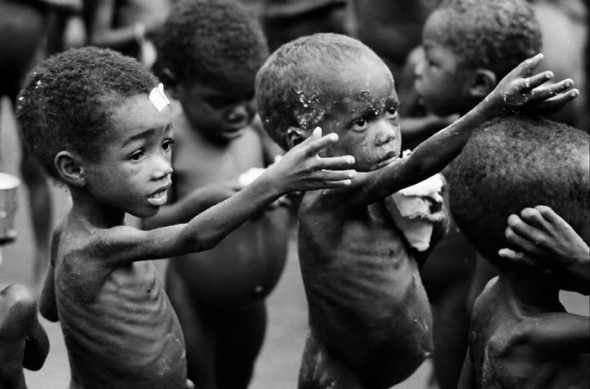 Help starving children in Africa