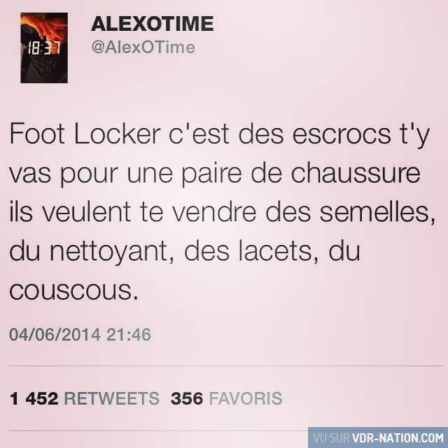 Foot locker #VDR #DROLE #HUMOUR #FUN #RIRE #OMG