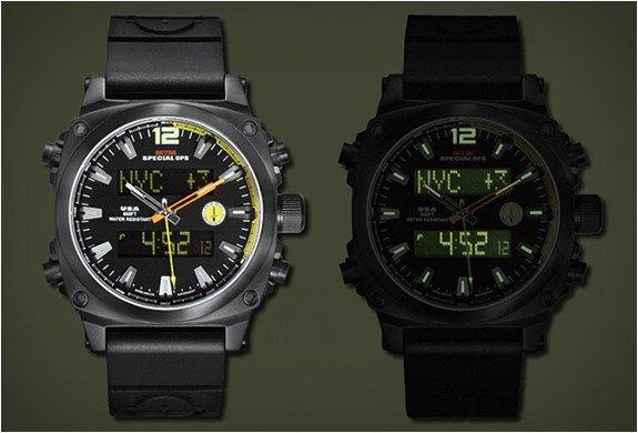 A MTM Special Ops é uma marca especializada em relógios militares com funções mais táticas, mas nada impede que você queira usar um relógio como este Stryk Air. Confira.