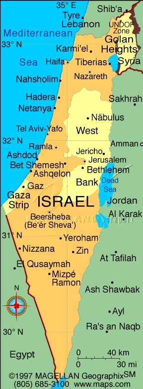 state of israel | Here's a map of Israel as things stand today: