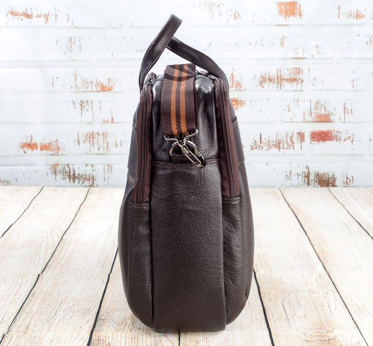 Pasta executiva em couro Vira Vento marrom - Enluaze - Bolsas, mochilas, roupas e acessórios