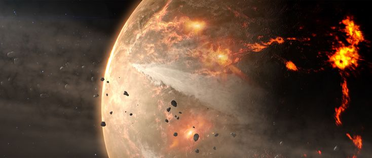 How the young Earth might have looked during the Late Heavy Bombardment.