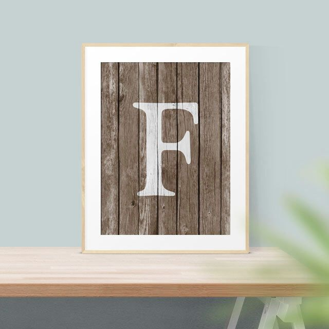 Would look awesome on our family gallery wall.   Family Name - Monogram - Monogram Decor - Wall Letter - Printable Art - Digital Art - Home Decor - Rustic Wall Art - Custom Monogram