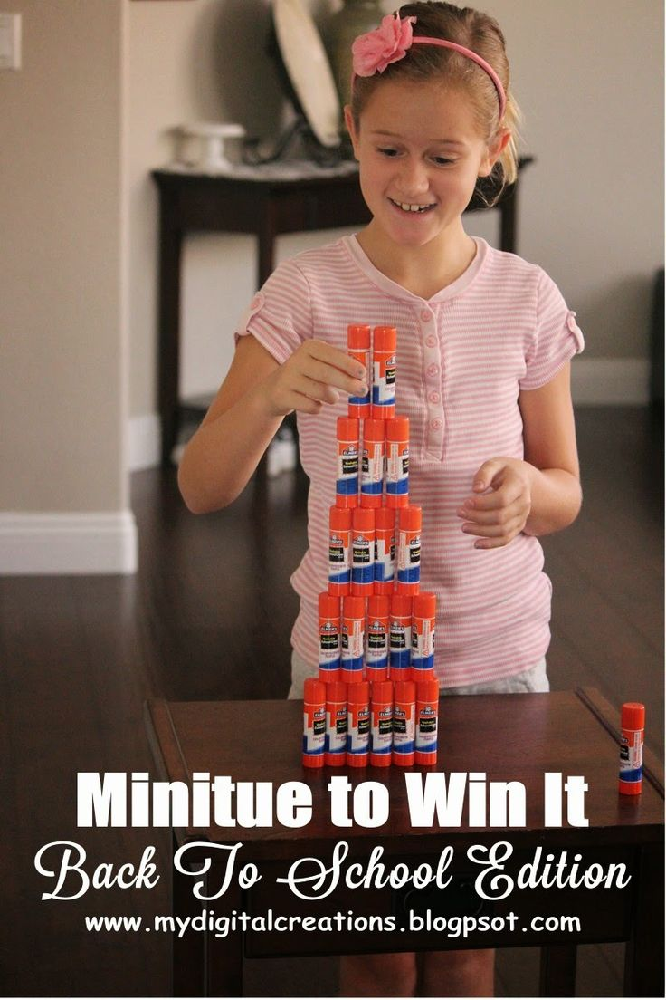 Minute To Win It - Back To School Edition