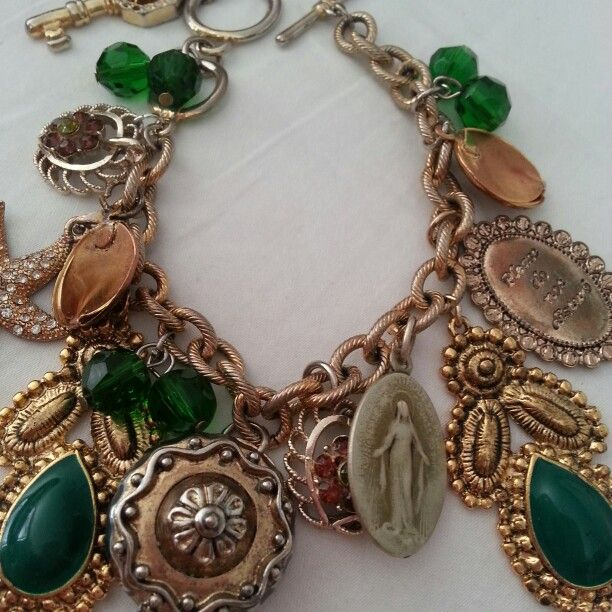 Bespoke,upcycled charm bracelet. Handmade by florieandme