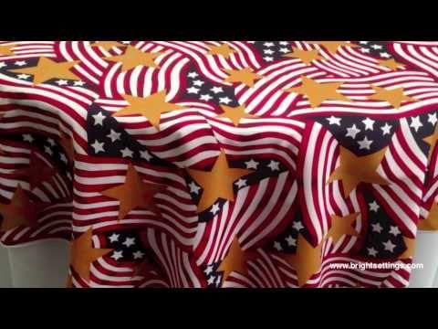 Stars N Stripes Tablecloth Fabric