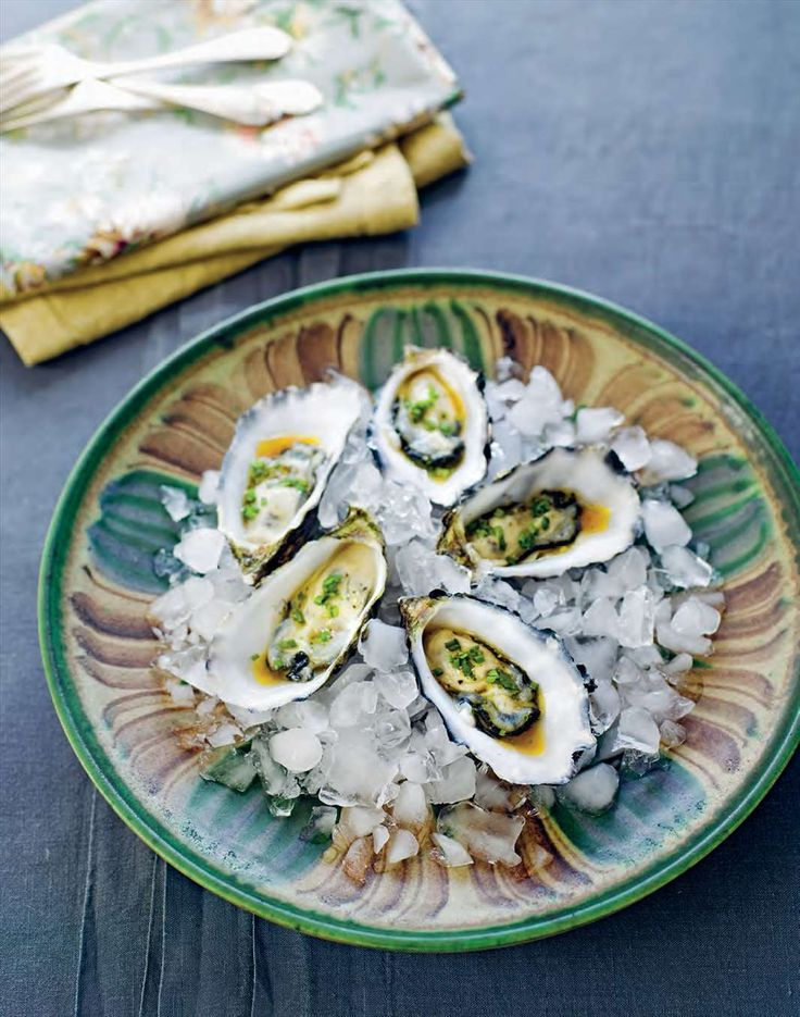 Oysters with coriander dressing by Margaret Fulton from The 12 Days of Christmas | Cooked
