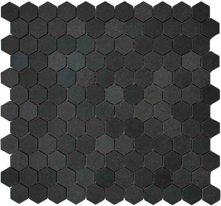 1 Hexagon Basalt Mosaic Tile Backsplash Or Bathroom