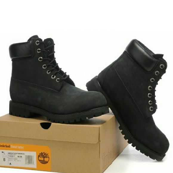 Ladies Timberlands Authentic all black new in box size 10  It's the original Timberland? boot designed specifically to fit women's feet! Timberland has been selling this classic style for nearly 40 years and made some improvements along the way, such as the addition of its exclusive anti-fatigue comfort technology, but its six-inch boots remain just as sturdy and dependable as always. Crafted in premium waterproof leather with seam-sealed construction to keep your feet dry regardless of the…