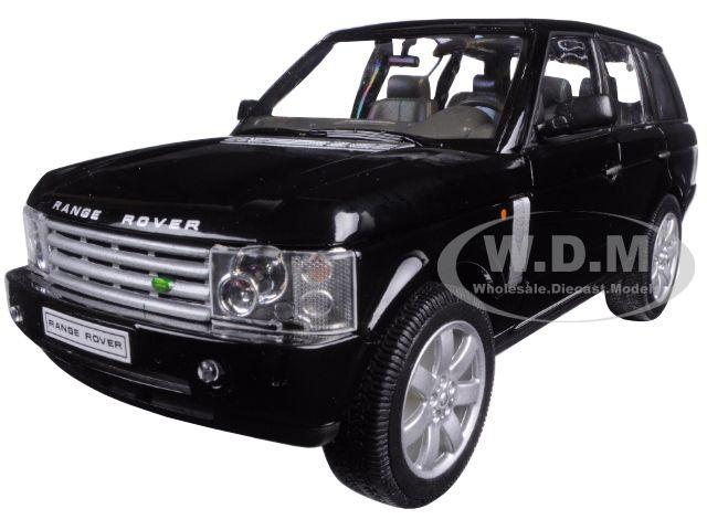 2003 Land Rover Range Rover Black 1/24 Diecast Model Car Welly 22415