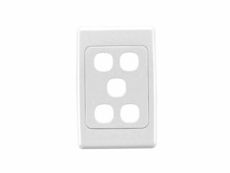 Clipsal 2035VH White 2000 Series Light Switch Five 5 Gang  Wall Plate Only