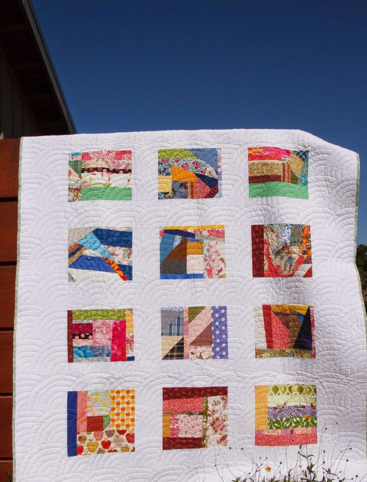 love the wide binding and borders on this crumb quilt. The Garden of Needles