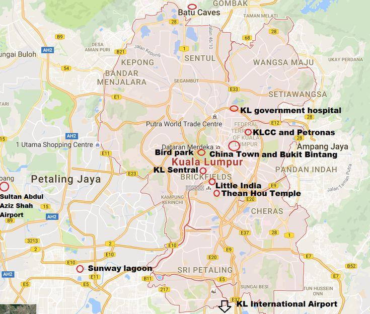 Kuala Lumpur Malaysia Map: Best 25+ Kuala Lumpur Map Ideas On Pinterest