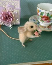 Needle felted , needle felt,mouse, dolls house,teddy, animal, ooak, hand made
