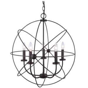 CANARM Summerside 5-Light Oil Rubbed Bronze Chandelier ICH282B05ORB25 at The Home Depot - Mobile