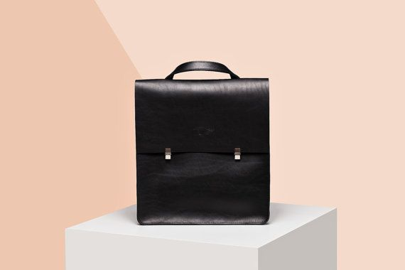 Leather backpack-handbag - Universal leather bag - Handmade genuine leather…