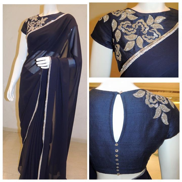 Hand embroidery On shoulder .. elegant look.. at http://www.mytailor.in/