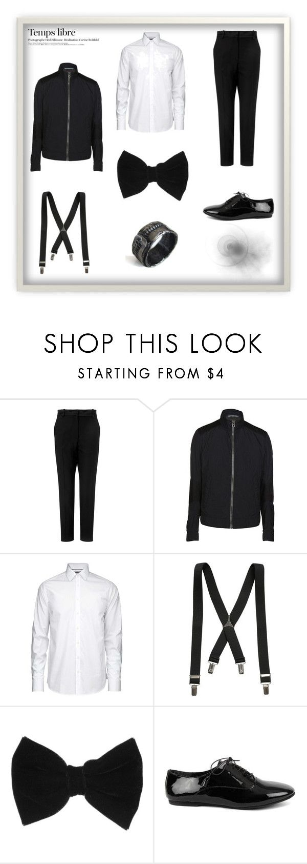 """Para ellos. La fiesta despues de las campanadas"" by jasonegasta ❤ liked on Polyvore featuring Racil, BOSS Orange, claire's, Catherine Marche and Hedi Slimane"