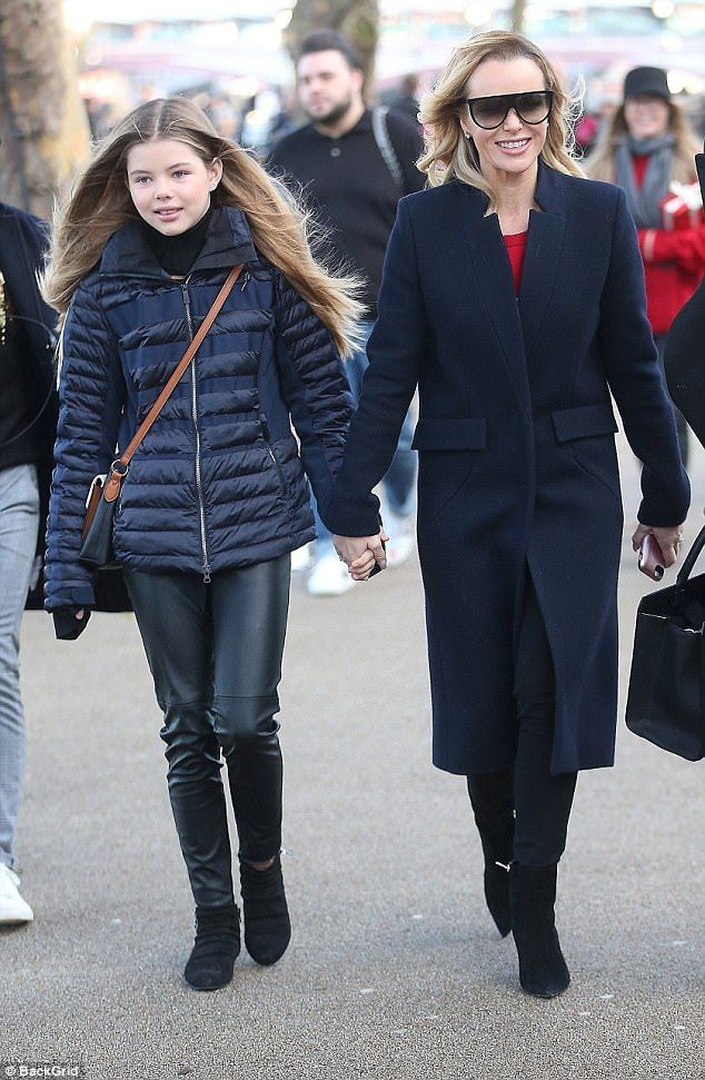 Amanda Holden beamed with pride as she stepped out with her daughter Alexa