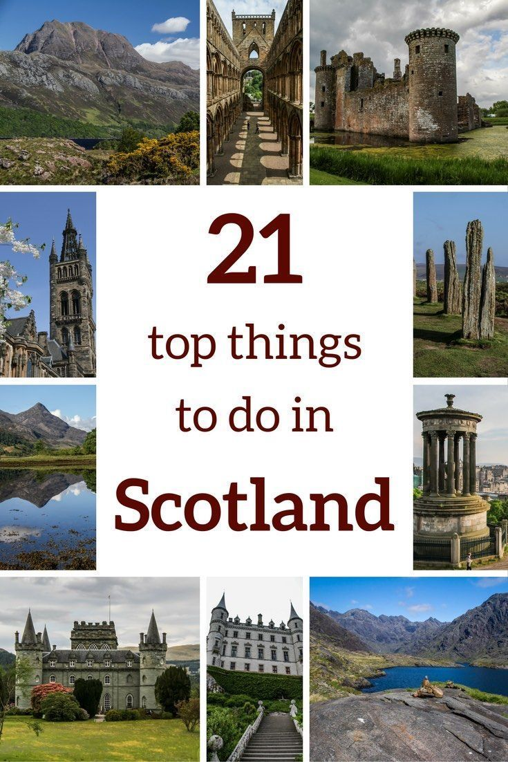 Plan your Scotland Travel with this Top 21 Scotland things to do: best castles, lochs, glens, historical sites, abbeys, viewpoints... Get a lot of inspiration with famous sites such as the the Isle of Skye or the Edinburgh Castle and off the beaten track