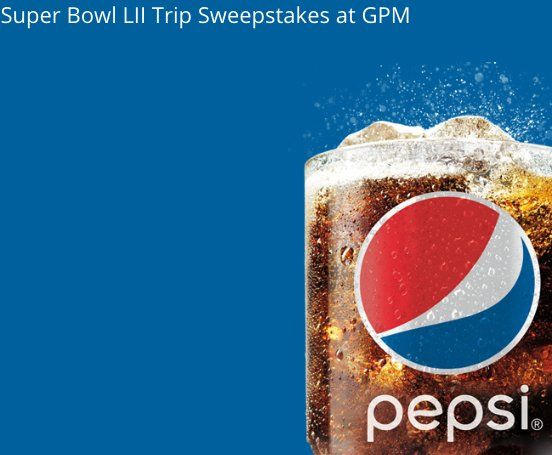 Enter to win a $7,000.00+ 3-night trip for 2 to Minneapolis, MN for Super Bowl LII on February 4, 2018; 2 upper level end zone tickets; $500 transportation stipend; game day transportation to Super Bowl LII from hotel; 2 tickets  to a Super Bowl party...