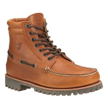 Timberland - Boots Authentics 7-Eye Chukka Homme - Marron - Doublure chaude en laine Pendleton