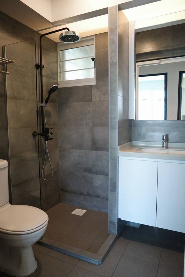 HDB 4 Room BTO Lush Interior Design Singapore Toilets