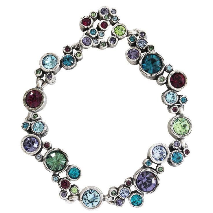 "Patricia Locke ""Ovation"" Sterling Silver Plated Bracelet, 7.25"" Waterlily BR0336S"