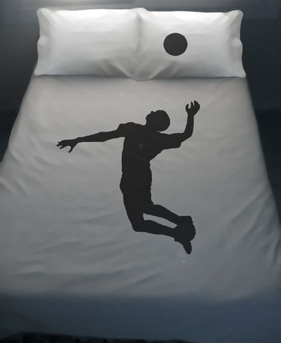 volleyball duvet cover sheet set bedding queen king twin size volley ball player spike full double cotton duvet covers sheets fan gift kids. beautiful ideas. Home Design Ideas