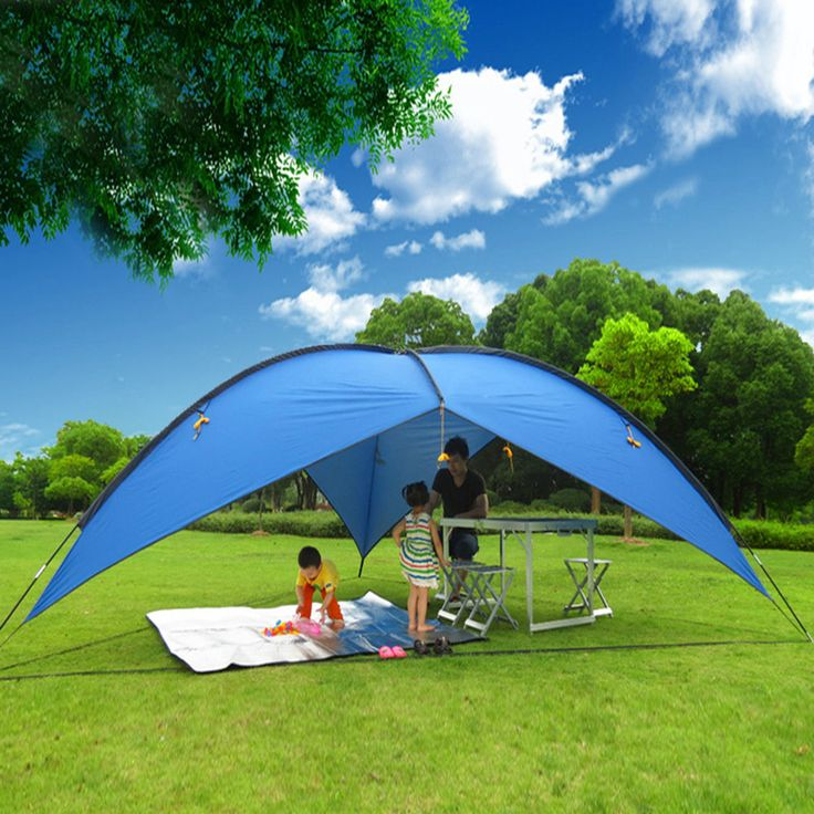 16u0027x16u0027x16u0027 Blue Portable Sun Shade Shelter Cabana Beach Tent Outdoor UV  Pop Up
