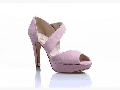 87ba434d5 Sandalia de novia en color rosa de Doriani - Zapatos de novia para bodas