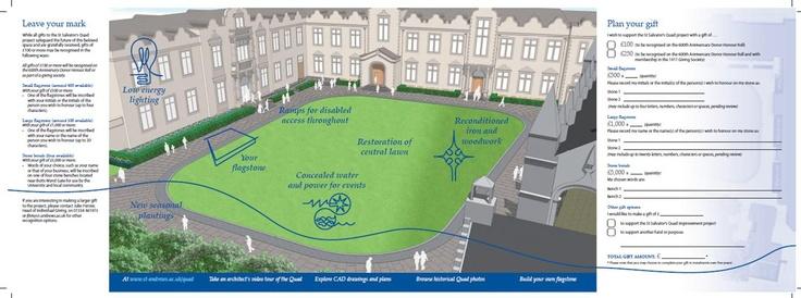 Fundraising brochure for University of St Andrews St Salvator's Quadrangle restoration (back)