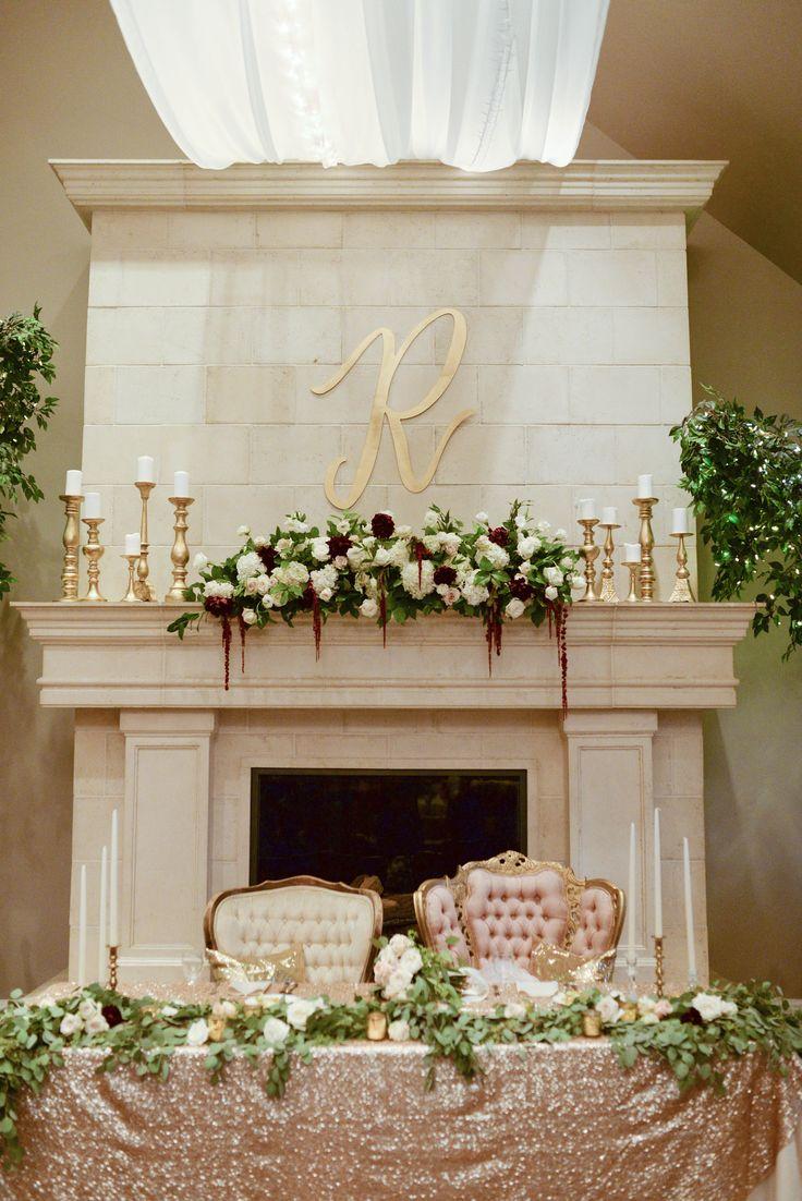 Head Table | Blush Pink | Sequin Linen | Royalty Head Table | Floral | Sleepy Ridge Weddings | Utah Valley | Coco Portraits