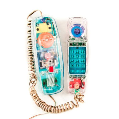 Yes when I was young I had one of these see through phones and thought I was SOOO cool! When it would ring the whole thing would light up.. this would make a great white elephant gift! lol