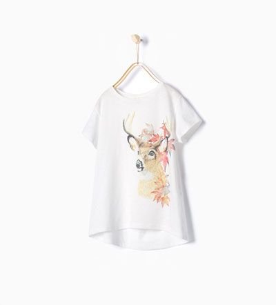 ZARA - KIDS - Shiny forest printed T-shirt