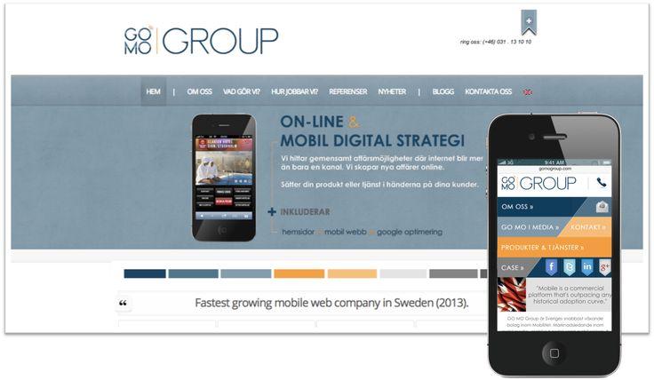 GOMO Group är ledande inom utveckling av webbplatser för företag i Sverige. GOMO bidrar också till att utveckla din verksamhet med mobil digital strategi och mobil marknadsföring.