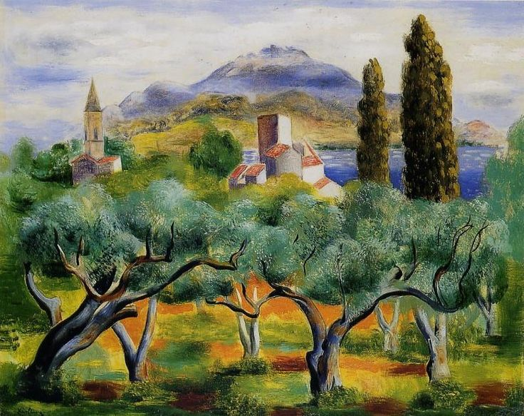 """Paysage a sanary"" - Moise Kisling - Peinture #art #painting"