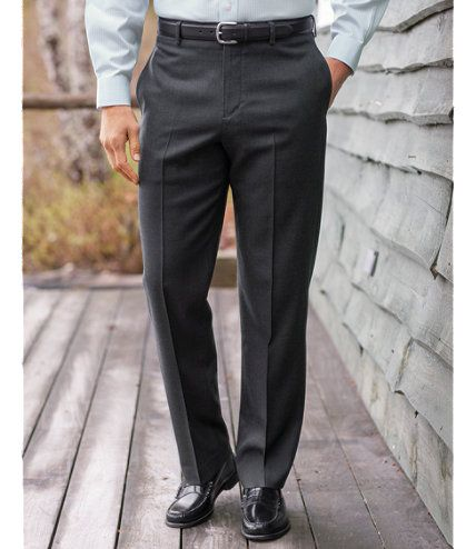 Washable Year-Round Wool Pants, Classic Fit Plain Front: Dress Pants | Free Shipping at L.L.Bean