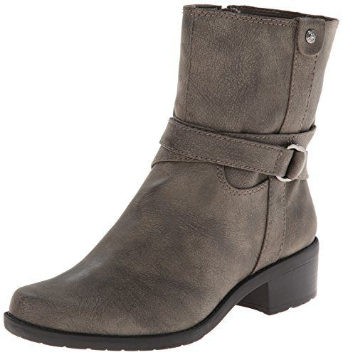 AK Anne Klein Women's Loraine Synthetic Motorcycle Boot, Taupe, 7 M US. http