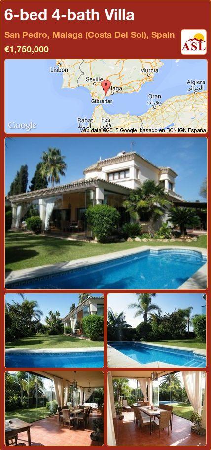 6-bed 4-bath Villa in San Pedro, Malaga (Costa Del Sol), Spain ►€1,750,000 #PropertyForSaleInSpain