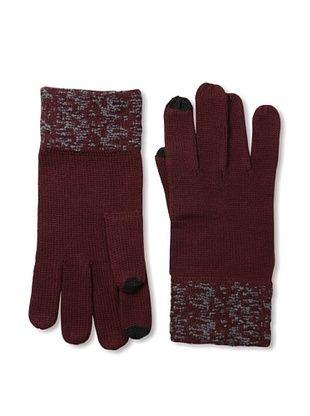 Amicale Men's Two-Tone Tech Gloves (Oxblood/Grey)