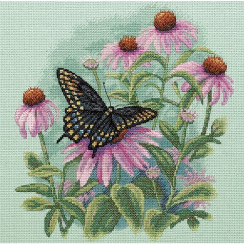 Butterfly & Daisies. Counted Cross Stitch Kit by Dimensions.
