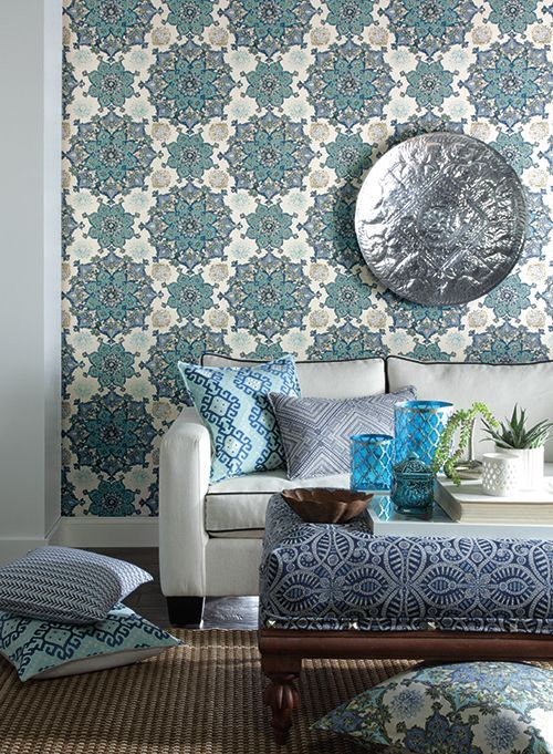 mahones wallpaper shop  GC8744 Global Chic by Waverly Wallpaper INCENSE WHEEL. Thanks for ...