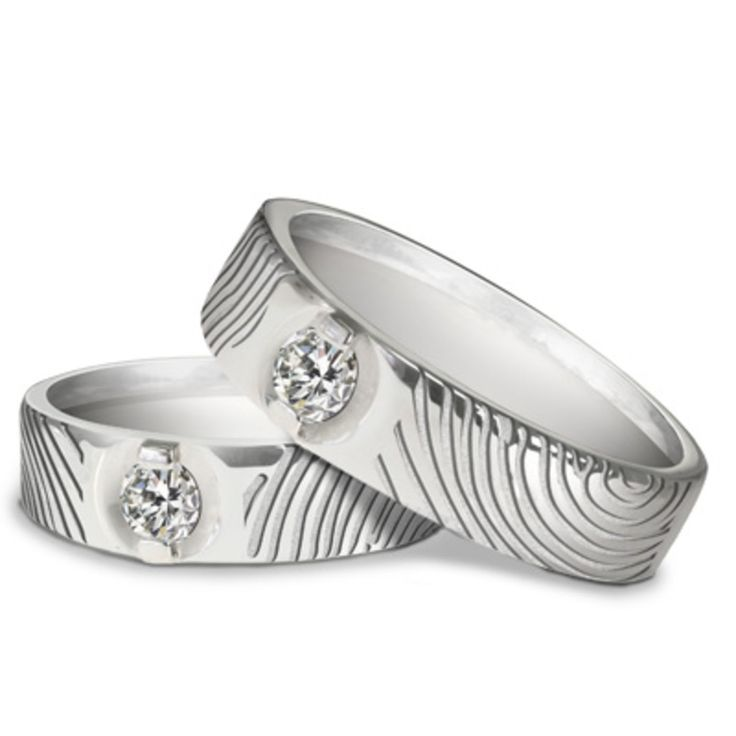 Cute Wedding Ring Engrave u Finger Print D usign by V uCo Jewellery