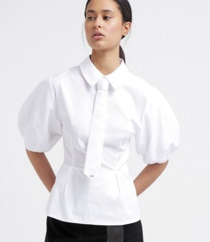 Elisabetta Franchi Bluzka koszulowa bianco
