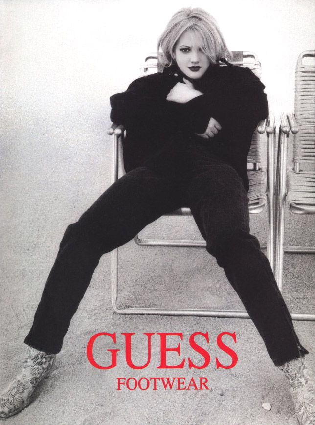 Drew Barrymore 1993.....Such an EPIC GUESS GIRL & HUMAN BEING....She's gone through a LOT, but she held onto her FUN & QUIRKY Side and is Here today to be an INSPIRATION....I'd LOVE to meet her One of these Days! She's already eaten at my Dad's Restaurant! :p  But I wasn't THERE! Fate didn't have it in my Cards juuust yett!
