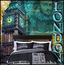 Destination London wall mural travel themed bedrooms